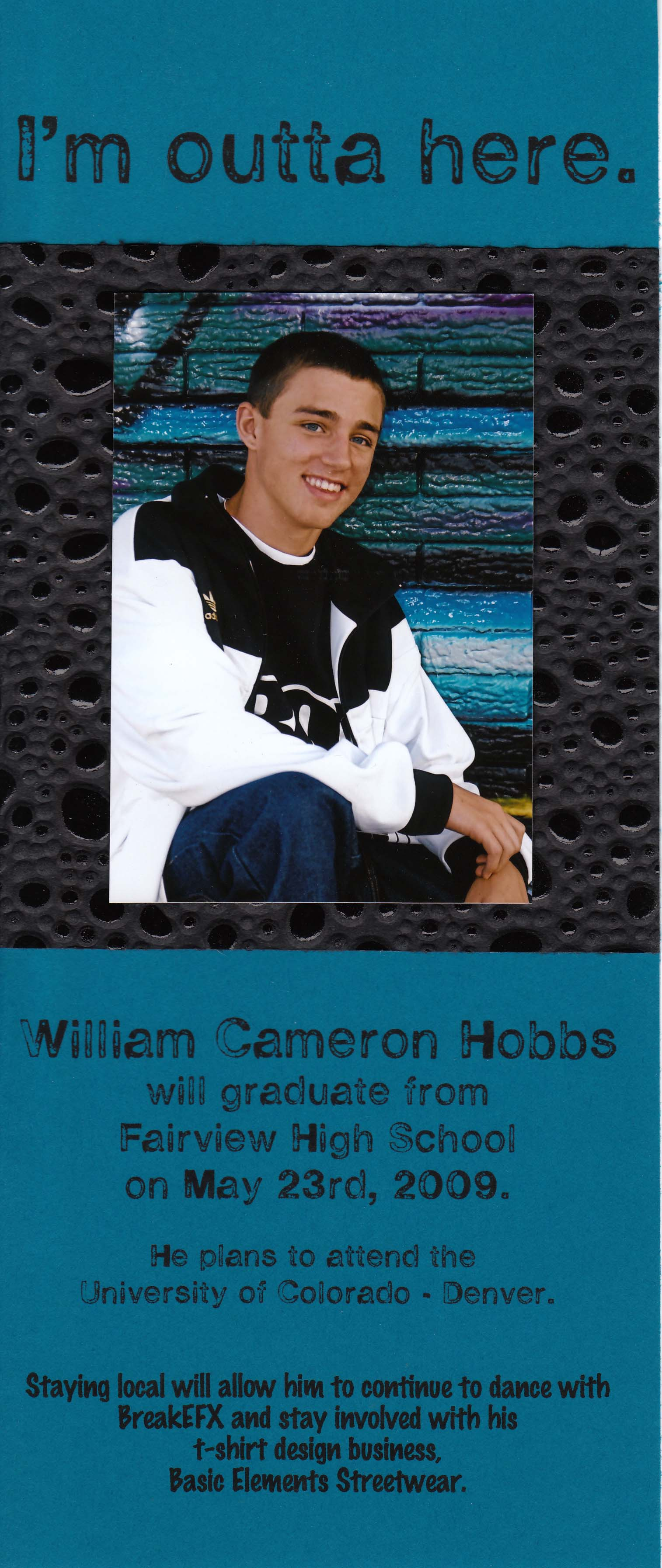 Homemade graduation announcements just the right things camerons announcement filmwisefo