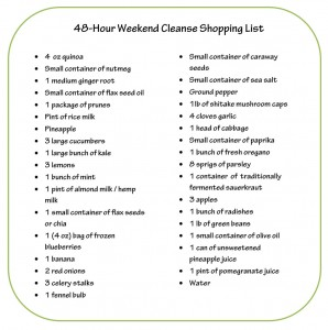 Dr Oz Cleanse Shopping List