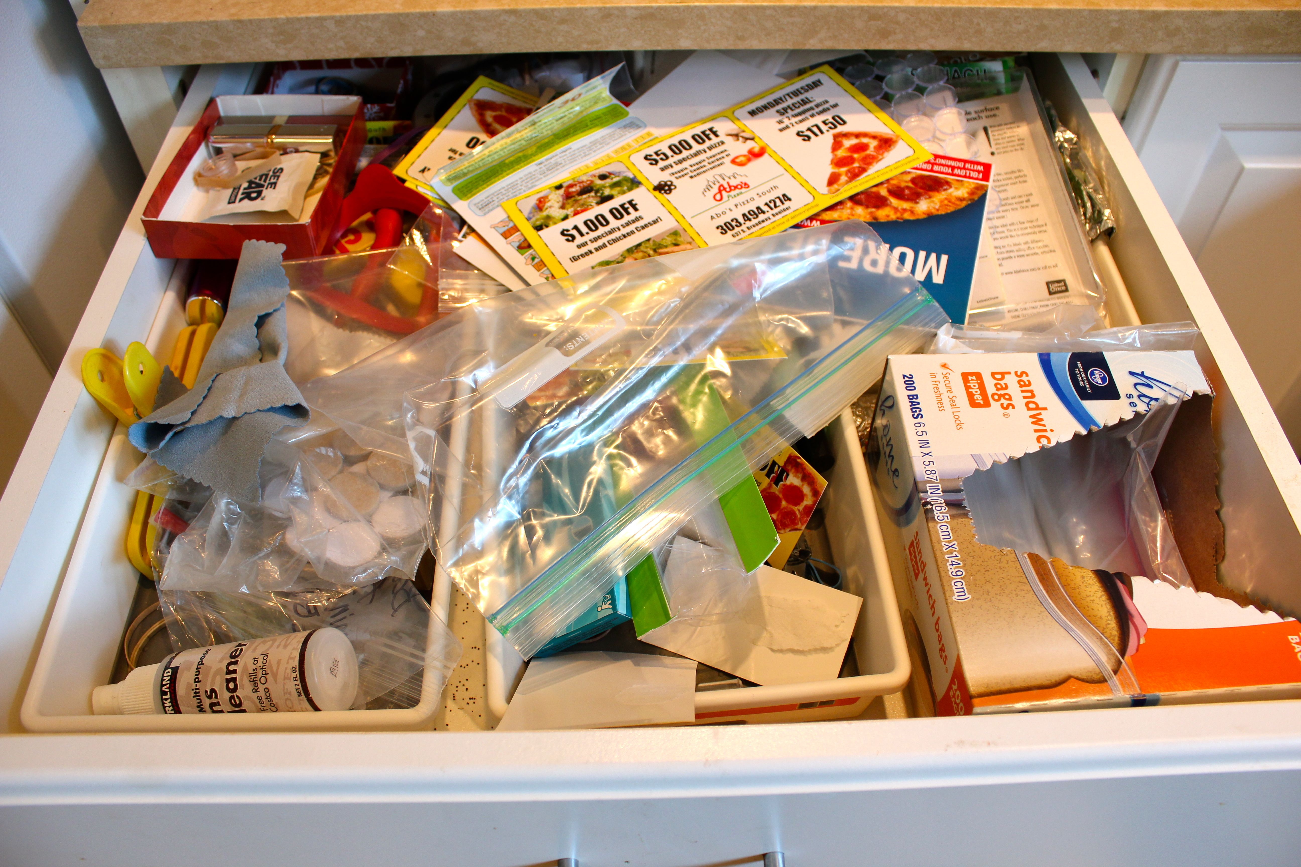 Organizing the kitchen junk drawer just the right things for Kitchen junk drawer