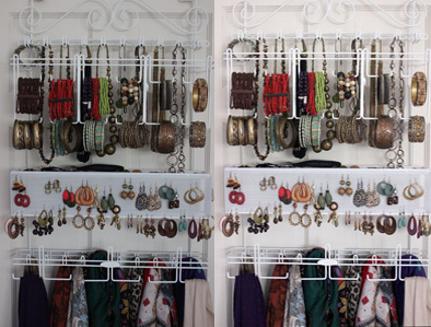 I took the photo at left for my post about my new jewelry organizer. I used the skills I learned in the Photoshop Elements class to improve the picture.